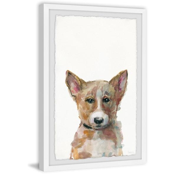 Handmade Sad Corgi Framed Print
