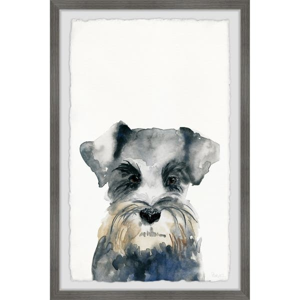 Handmade Little Gray Puppy Framed Print