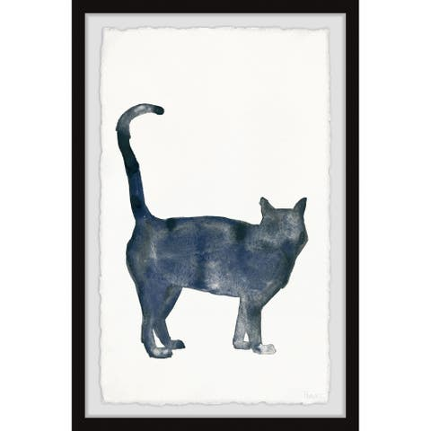Handmade Shy Cat Framed Print