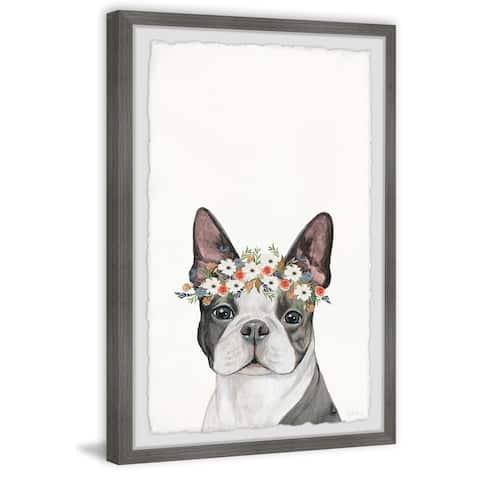 Handmade Doggie Crown Framed Print