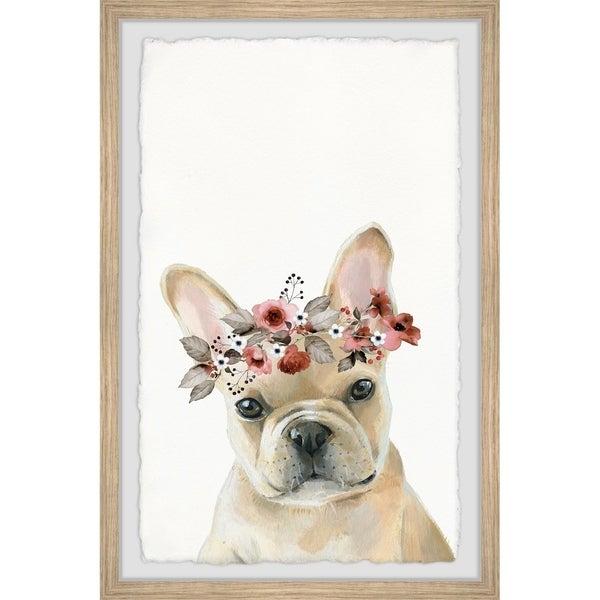 Handmade Serious Pup Framed Print