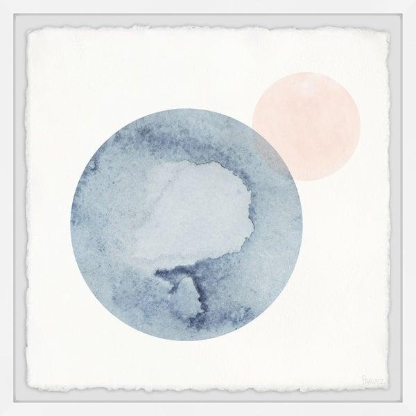 Handmade Collided Circles Framed Print
