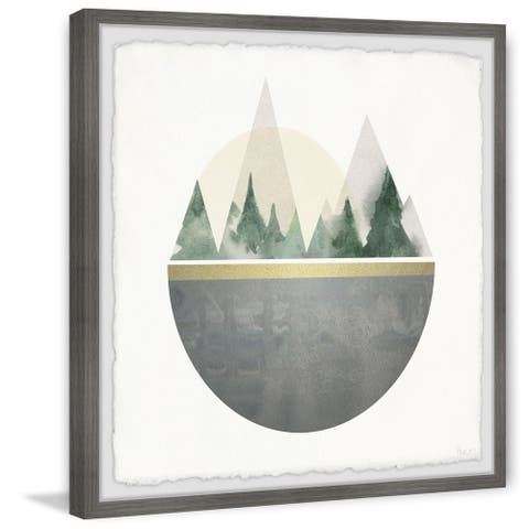 Handmade Forest in a Circle Framed Print