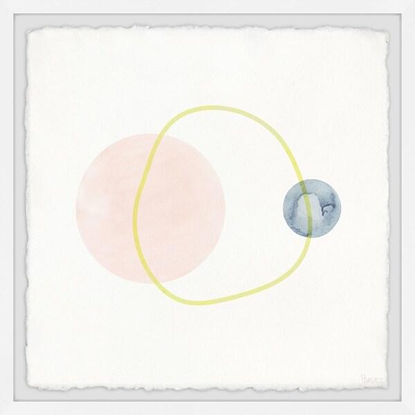 Handmade Unperfect Yellow Ring Framed Print