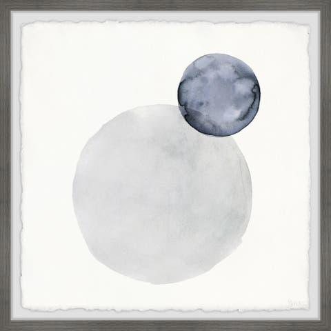 Handmade The Moon and the Earth Framed Print