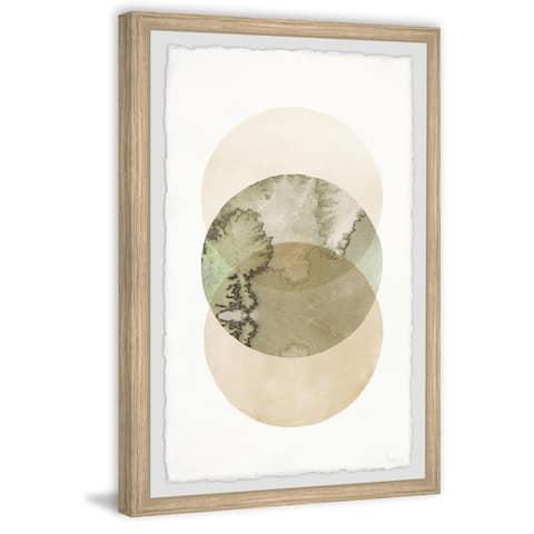 Handmade Kiwi and Two Circles Framed Print