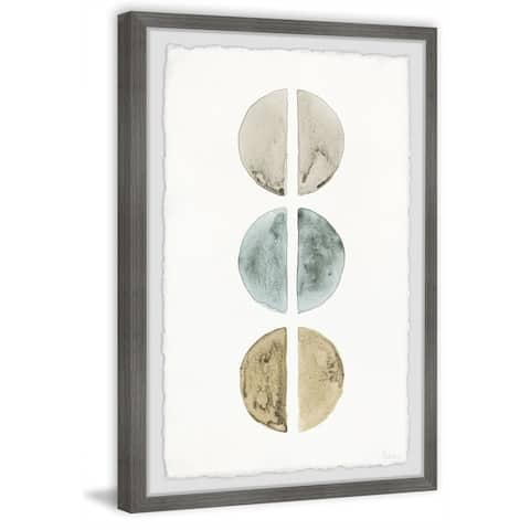 Handmade Metallic Circles Framed Print