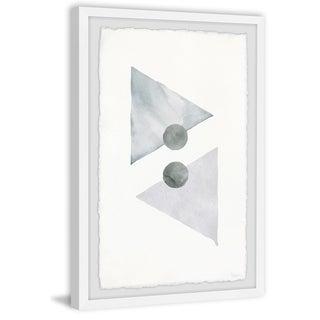 Handmade Gray Arrowhead Framed Print