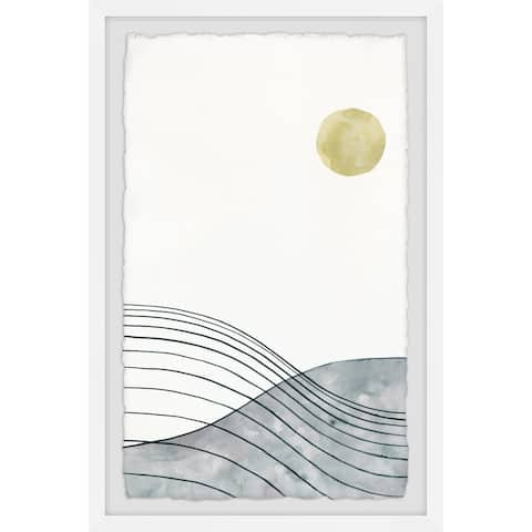 'Golden Moon' Framed Painting Print - Multi-color