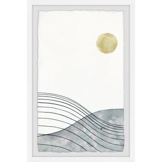 Handmade Golden Moon Framed Print