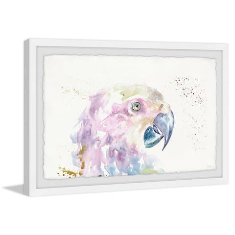 Handmade Parrot Colors Framed Print