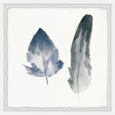 Handmade Smoky Feathers Framed Print