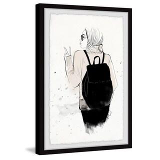 Marmont Hill - Handmade Black Backpack Framed Print