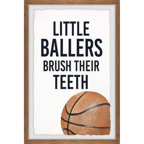 Marmont Hill - Handmade Little Ballers I Framed Print