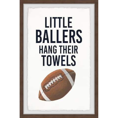Marmont Hill - Handmade Little Ballers III Framed Print