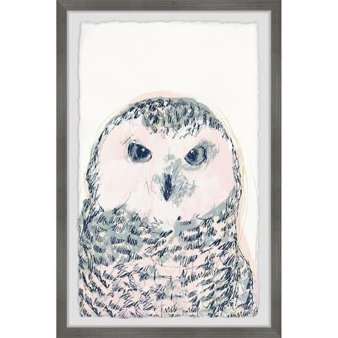 Porch & Den 'Funky Owl Portrait IV' Framed Painting Print