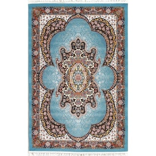 "Copper Grove Kerteminde Wool/Acrylic Heat-set Floral Medallion Turkish Area Rug - 7'0"" x 5'4"""