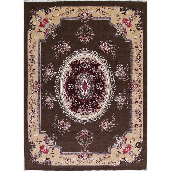 "Copper Grove Mandria Aubusson Turkish Oriental Geometric Polyester Jute Area Rug - 13'3"" x 9'10"""