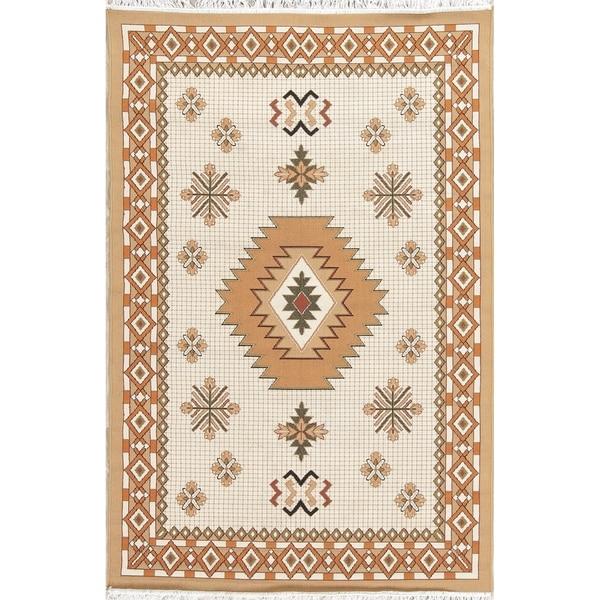 "Copper Grove Videbaek Geometric Polyester Jute Turkish Oriental Area Rug - 7'0"" x 5'4"""