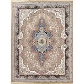 "Copper Grove Orimattila Heat-set Floral Medallion Wool/ Acrylic Area Rug - 13'3"" x 9'10"""