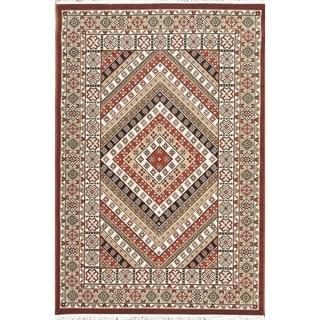 "Copper Grove Vodskov Geometric Polyester Jute Turkish Oriental Area Rug - 7'0"" x 5'4"""