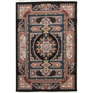 """Copper Grove Ry Wool/Acrylic Floral Animal Pictorial Heat-set Turkish Area Rug - 7'0"""" x 5'4"""""""