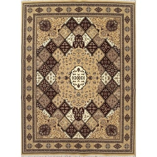 "Gracewood Hollow Odian Jute Blend Oriental Bakhtiari Jute Turkish Geometric Oriental Area Rug - 13'4"" x 9'9"""