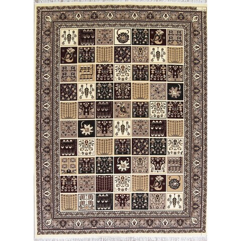 Copper Grove Melini Bakhtiari Garden Design Turkish Oriental Jute Area Rug - 13'4 x 9'10