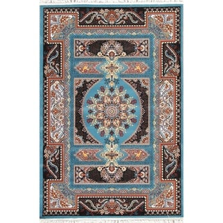"Copper Grove Nordborg Wool/Acrylic Floral Heat-set Turkish Area Rug - 7'0"" x 5'4"""