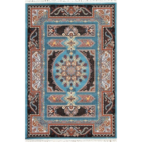 "Copper Grove Nordborg Wool/Acrylic Floral Heat-set Turkish Area Rug - 7'0"" x 5'4"""