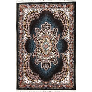 """Gracewood Hollow Benedetti Floral Medallion Wool Blend Turkish Area Rug - 7'0"""" x 5'4"""""""
