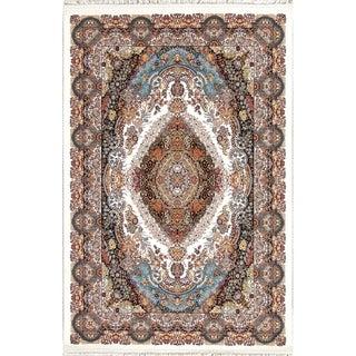 "Copper Grove Faaborg Beige/Ivory Wool/Acrylic Heat-set Turkish Floral Oriental Area Rug - 7'0"" x 5'4"""