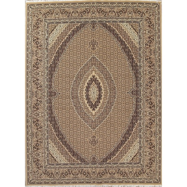 "Copper Grove Moutoullas Bidjar Geometric Jute Turkish Oriental Area Rug - 13'4"" x 9'10"""