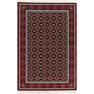 "Gracewood Hollow Amorim Geometric Wool Blend Heat-set Turkish Area Rug - 7'0"" x 5'4"""