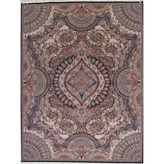 "Copper Grove Forssa Heat-set Geometric Medallion Wool/ Acrylic Area Rug - 13'3"" x 9'10"""