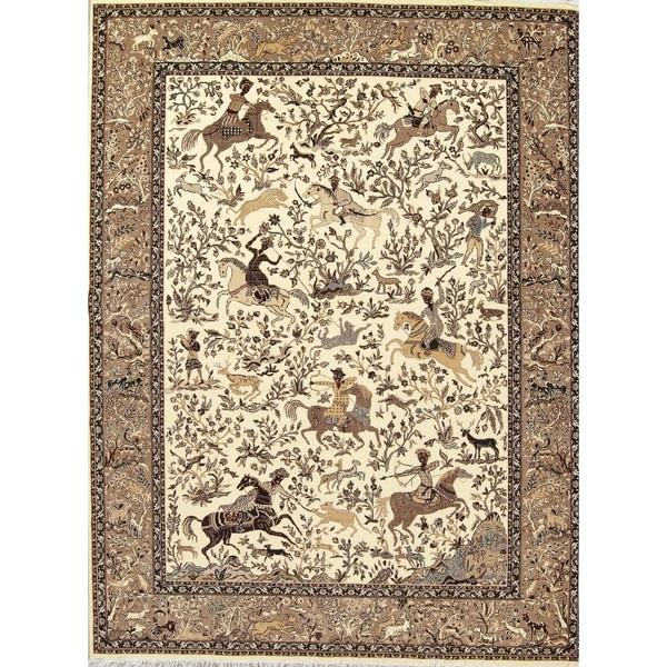 Shop Tabriz Animal Pictorial Hunting Design Polyester Jute