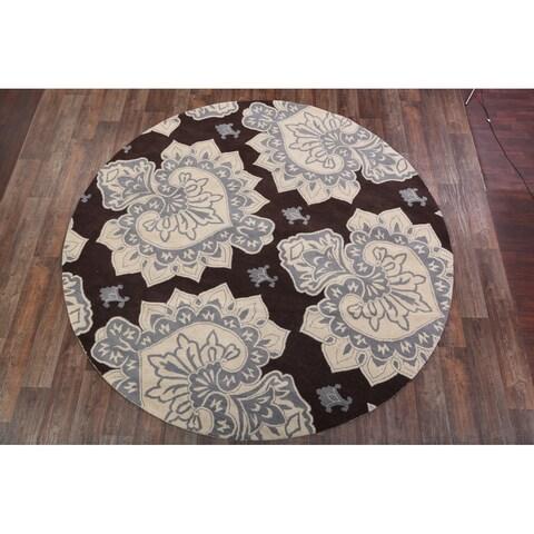 Copper Grove Aalestrup Oushak Wool Transitional Handmade Indian Oriental Rug - 9'8 x 9'8