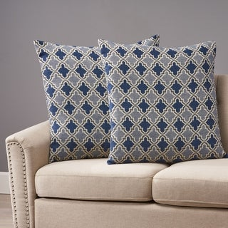 Andover Modern Fabric Throw Pillow Cover (No Filling) (Set of 2) by Christopher Knight Home