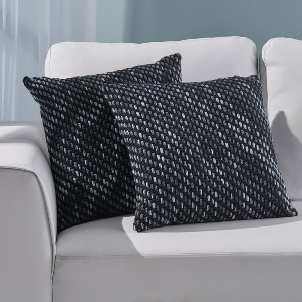 Acton Modern Fabric Throw Pillow Cover (No Filling) (Set of 2) by Christopher Knight Home