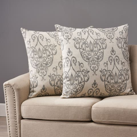Ankeny Modern Fabric Throw Pillow Cover (No Filling) (Set of 2) by Christopher Knight Home