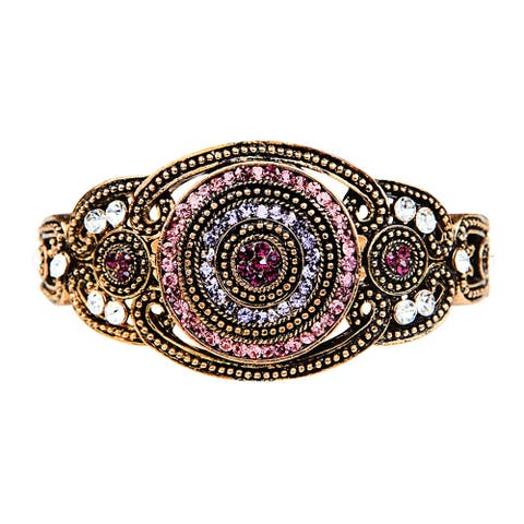Traditional Bracelet with Zirconia and Crystals