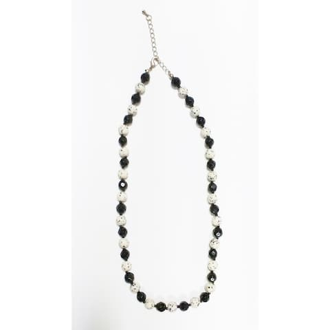 Genuine Black Onyx and Dalmatian Necklace Set with Earrings