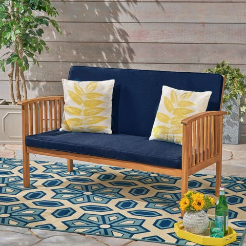 Carolina Water Resistant Loveseat Cushion Set by Christopher Knight Home