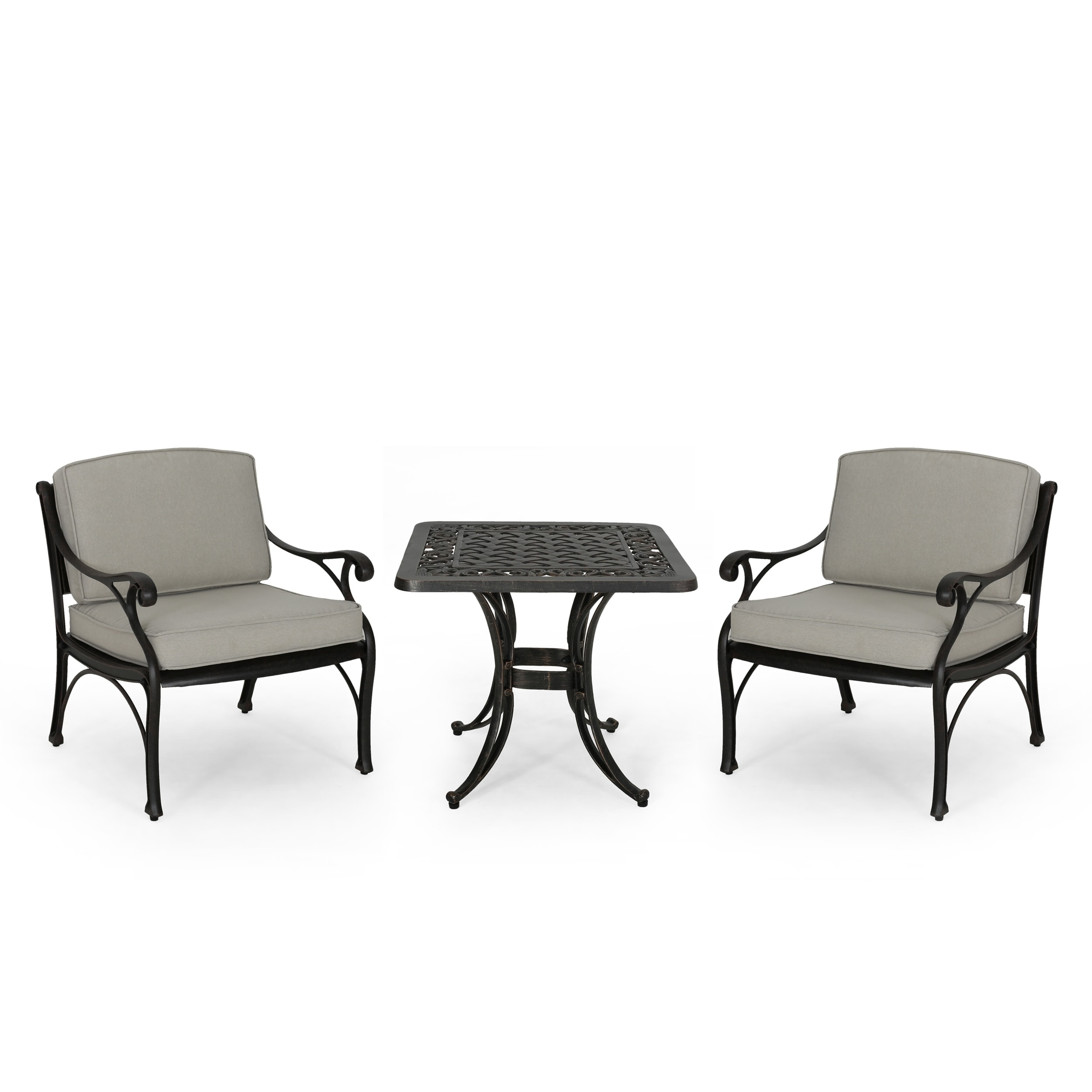 Superbe Shop Sunshine Outdoor 2 Seater Aluminum Club Chair And Table Set By  Christopher Knight Home   Free Shipping Today   Overstock   27812163