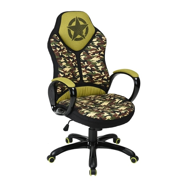 Porch & Den Twinberry Fabric Paint Office Gaming Chair with Headrest and Lumbar Support