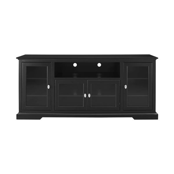 Shop Highboy Black Wood 70 Inch Tv Media Stand Storage