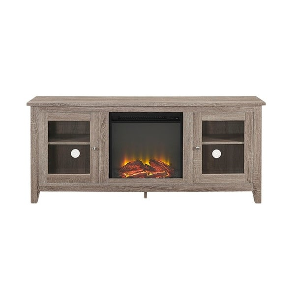 Shop Driftwood 58 Inch Media Tv Stand Console With