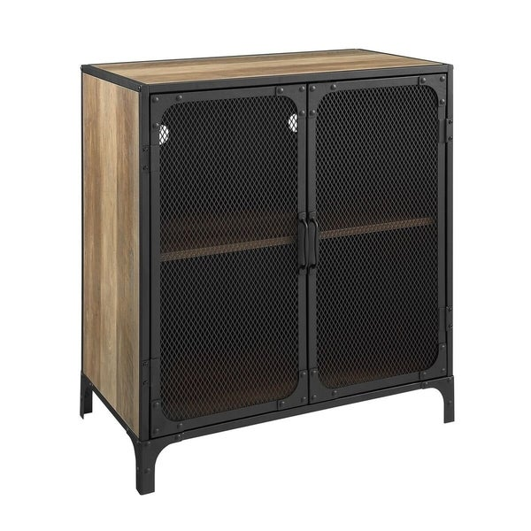 Shop 30 Quot Industrial Metal Accent Tv Cabinet With Mesh
