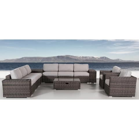 12 Piece Sectional Set with Cushions