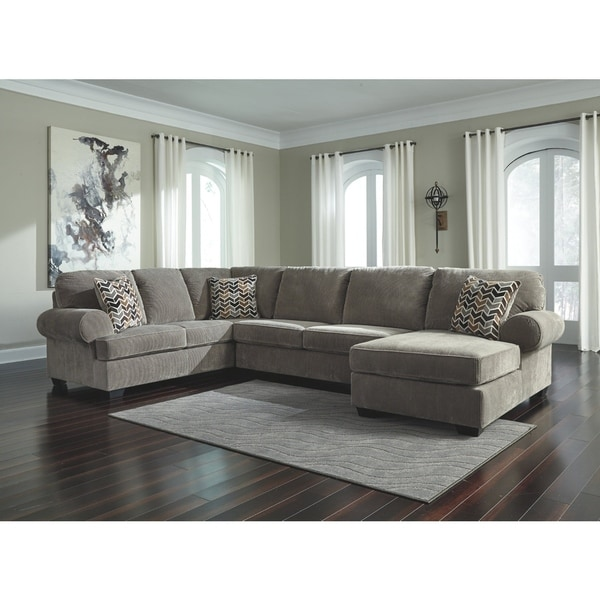 Shop Jinllingsly 3 Piece Sectional Contemporary Gray